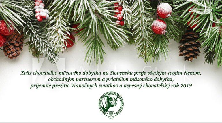 Krásne vianočné sviatky a šťastný Nový rok 2019